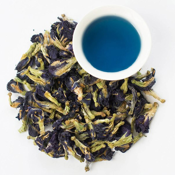 Синий чай чанг шу женщина