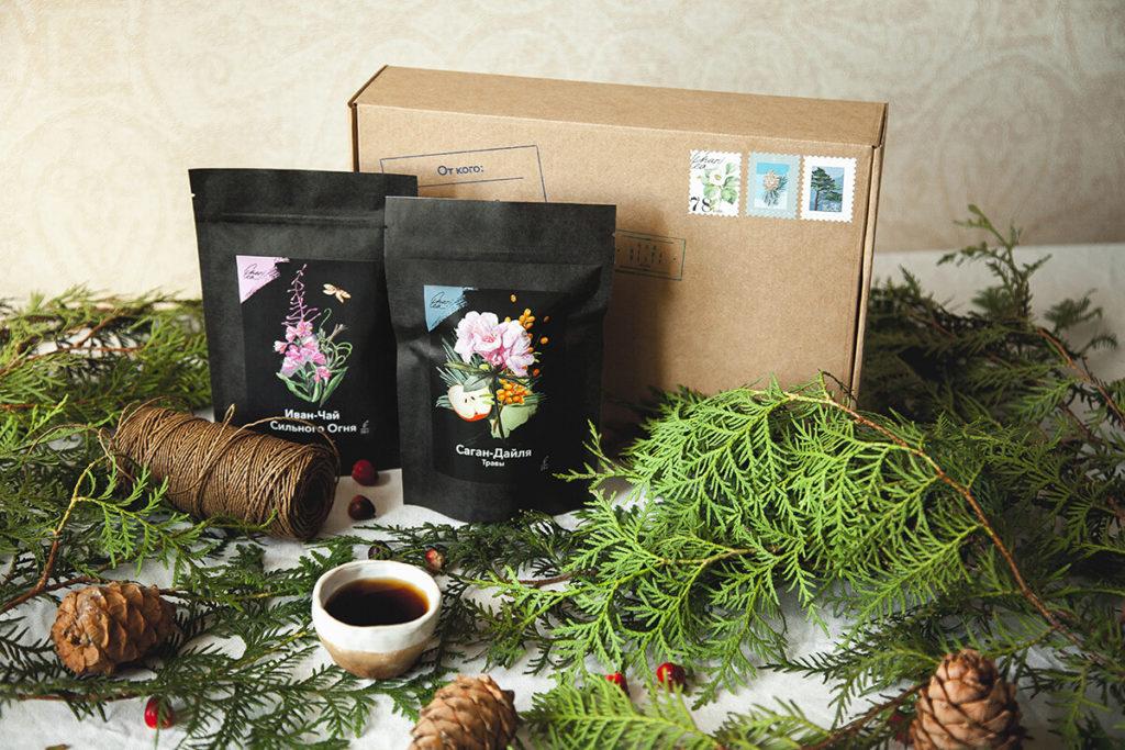 Красивый чайный подарок фото