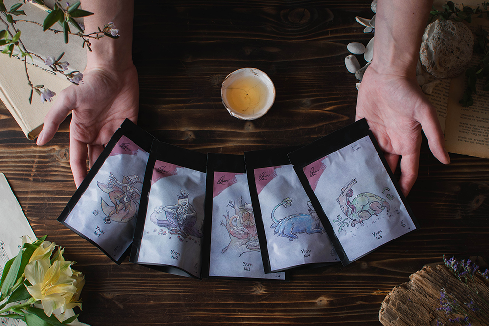tea pack oolong game present