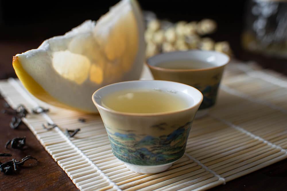 Pomelo fruit tea
