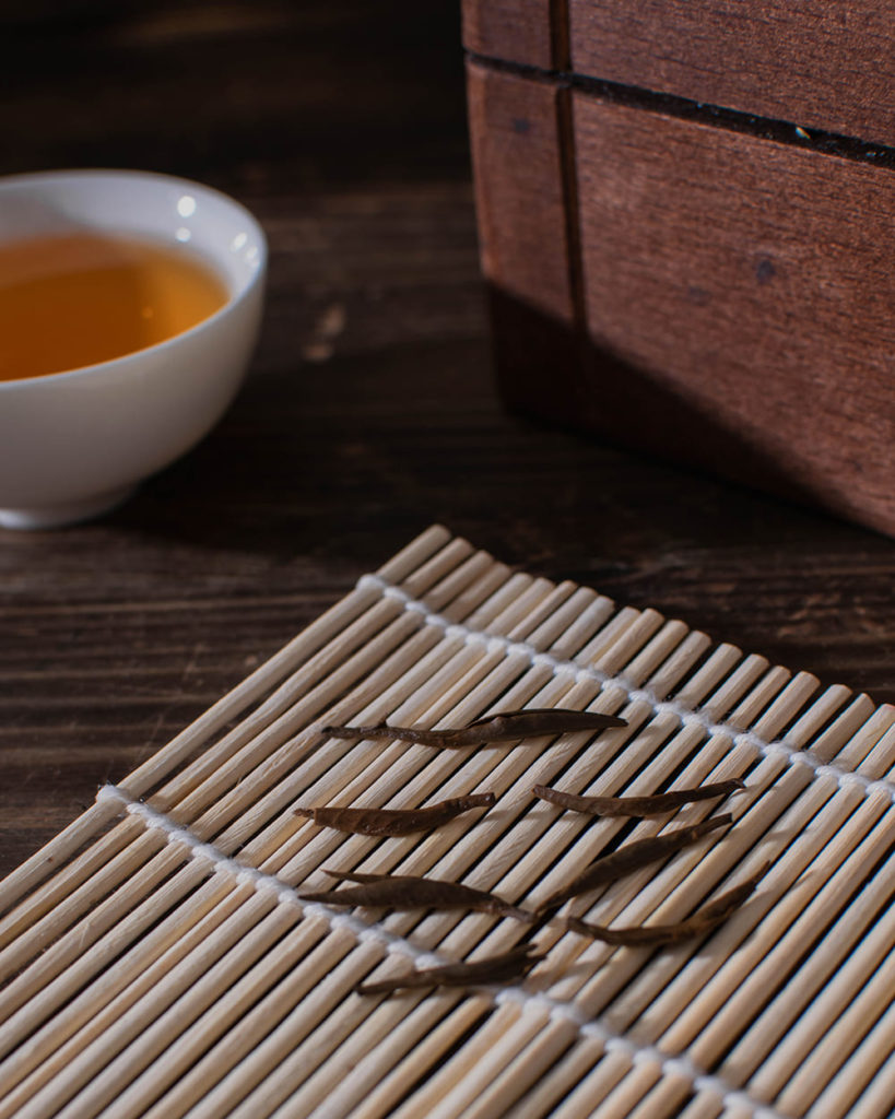 Red tea buds